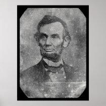 President Abraham Lincoln Daguerreotype 1864 Poster