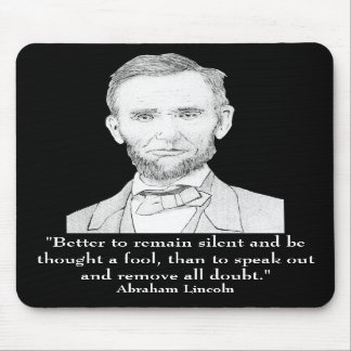 President Abraham Lincoln Mouse Pads