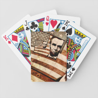 President Abraham Lincoln Patriotic Flag Bicycle Playing Cards