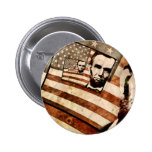 President Abraham Lincoln Patriotic Flag Pinback Buttons