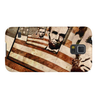President Abraham Lincoln Patriotic Flag Cases For Galaxy S5