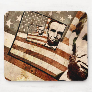 President Abraham Lincoln Patriotic Flag Mouse Pad