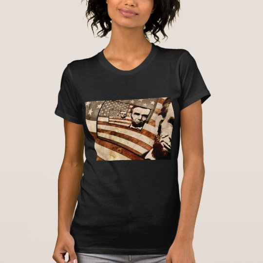 President Abraham Lincoln Patriotic Flag T-Shirt