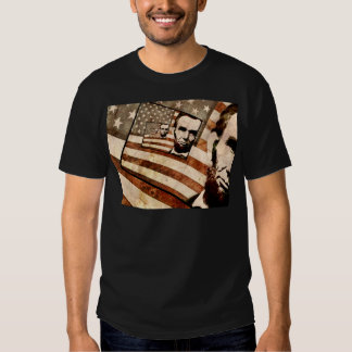 President Abraham Lincoln Patriotic Flag Tee Shirt