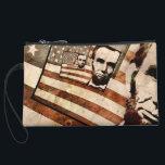 "President Abraham Lincoln Patriotic Flag Wristlet Wallet<br><div class=""desc"">Enjoy this President Abraham Lincoln Patriotic Flag graphic design…</div>"