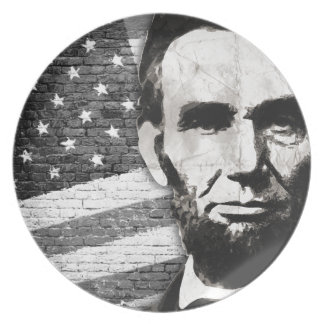 President Abraham Lincoln Party Plate