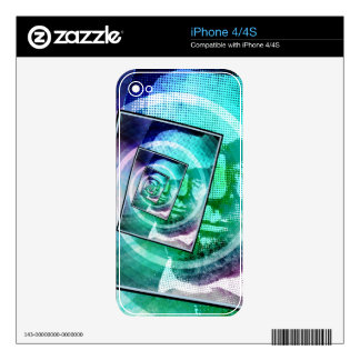 President Abraham Lincoln Pop Art Decal For The iPhone 4S