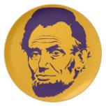 President Abraham Lincoln Pop Art Melamine Plate