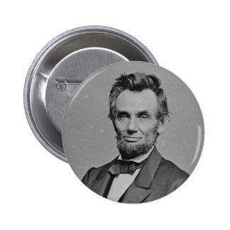 President Abraham Lincoln Portrait by Mathew Brady Button