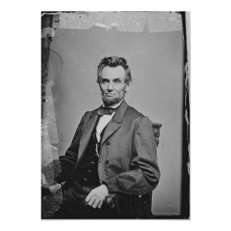 President Abraham Lincoln Portrait by Mathew Brady Card