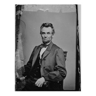 President Abraham Lincoln Portrait by Mathew Brady Postcard