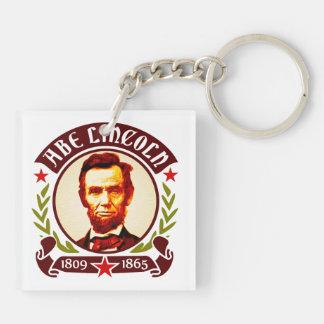 President Abraham Lincoln Portrait Keychain