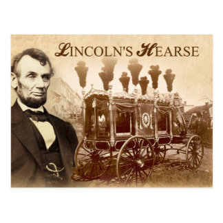 President Abraham Lincoln s Horse-drawn Hearse Post Card