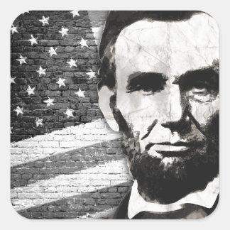 President Abraham Lincoln Square Sticker