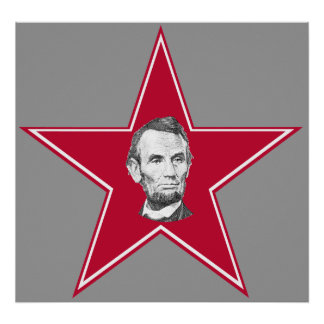 President Abraham Lincoln Star Posters