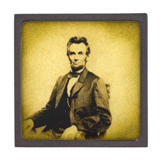 President Abraham Lincoln STEREOVIEW VINTAGE RARE Keepsake Box