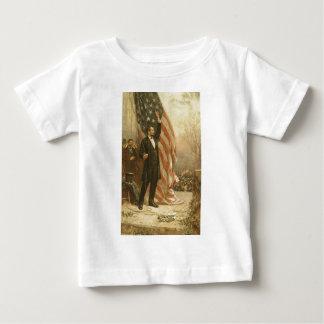 President Abraham Lincoln Under the American Flag T-shirt