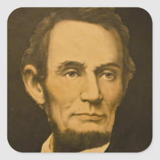 President Abraham Lincoln Vintage Engraving Square Sticker