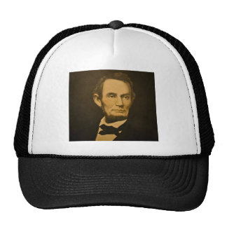 President Abraham Lincoln Vintage Engraving Trucker Hat