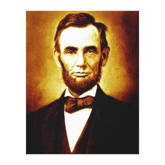 President Abraham Lincoln Vintage Portrait Canvas Print