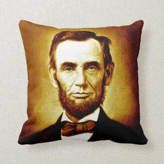 President Abraham Lincoln Vintage Portrait Sepia Pillows