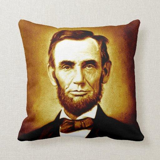 President Abraham Lincoln Vintage Portrait Sepia Throw Pillow