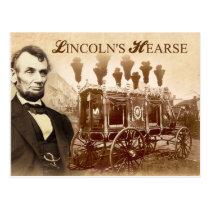 President Abraham Lincoln's Horse-drawn Hearse Postcard