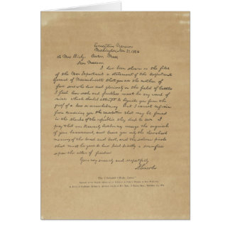 President Abraham Lincoln's Letter to Mrs. Bixby Greeting Card