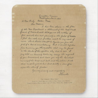 President Abraham Lincoln's Letter to Mrs. Bixby Mouse Pad