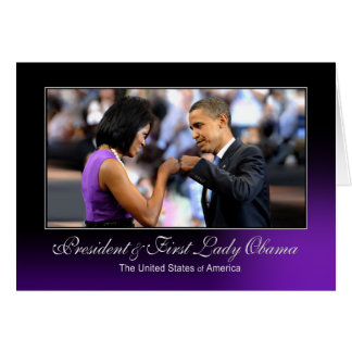President and First Lady Obama (Fist Bump) Card
