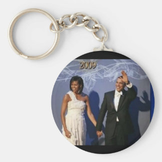 President and First Lady Obama Inauguration Ball Basic Round Button Keychain