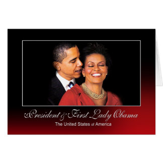 President and First Lady Obama (The Whisper) Card