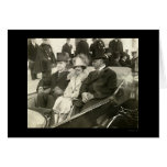 President and Mrs. Coolidge in Car 1925 Greeting Card