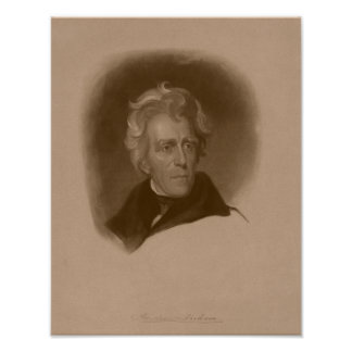President Andrew Jackson -- American History Poster