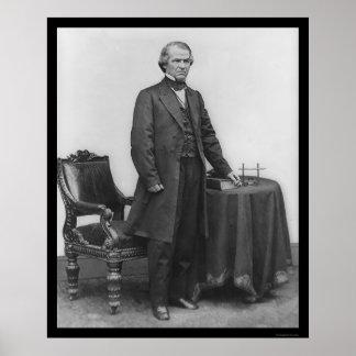 President Andrew Johnson 1867 Print