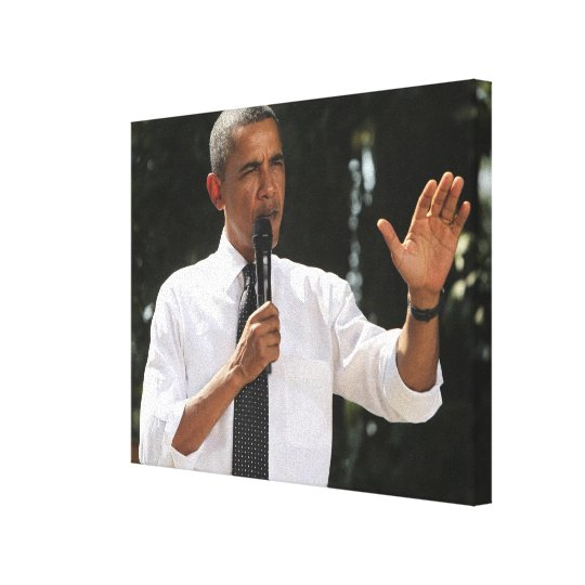 President Barack answers questions about the Canvas Print