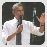 President Barack answers questions about the Square Sticker