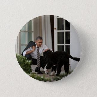 President Barack & Bo Obama Pinback Button