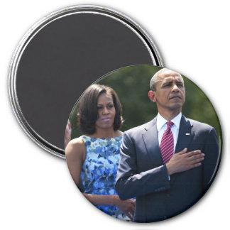 President Barack & Michele Obama 3 Inch Round Magnet