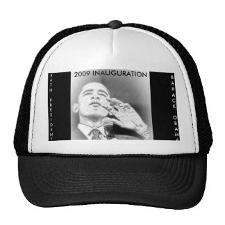 PRESIDENT BARACK OBAMA, 2009 INAGURATION TRUCKER HAT