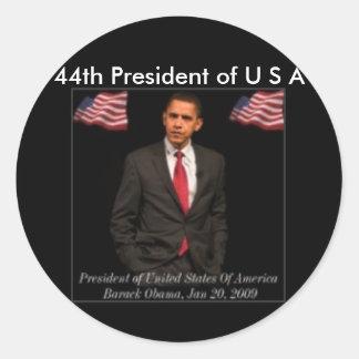 President Barack Obama 2009_Inaguration_Posters_pr Classic Round Sticker