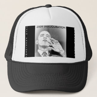 PRESIDENT BARACK OBAMA, 2009 INAGURATION TRUCKER HAT