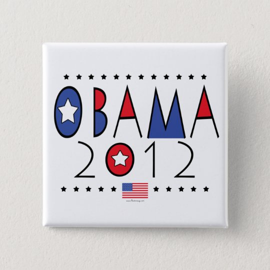 President Barack Obama 2012 Gear Button