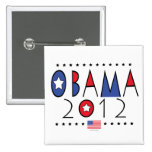 President Barack Obama 2012 Gear 2 Inch Square Button