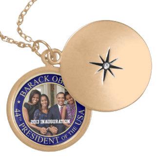 President Barack Obama 2013 Inauguration Gold Plated Necklace
