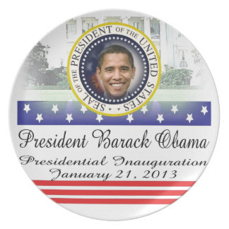 President Barack Obama 2013 Inauguration Party Plate