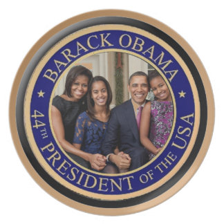 President Barack Obama 2013 Inauguration Dinner Plates
