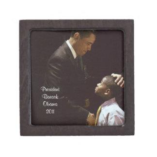 PRESIDENT BARACK OBAMA, AND CHILD gift box