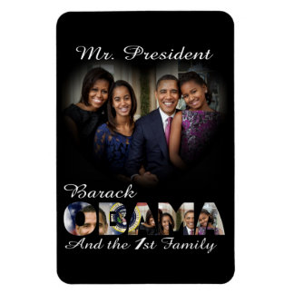 President Barack Obama  and First Family Large Rectangular Photo Magnet