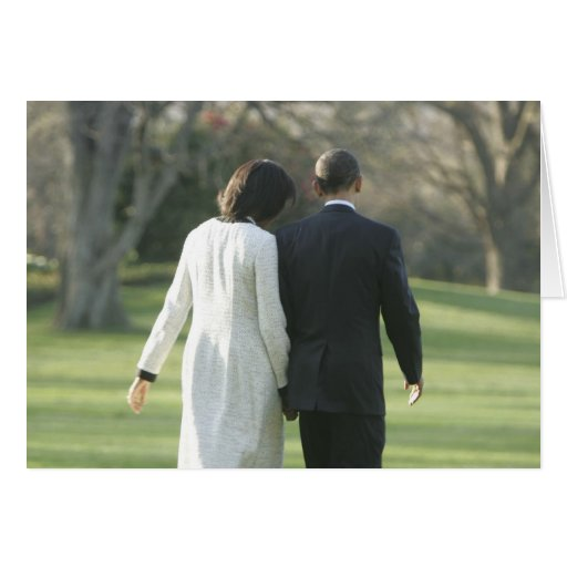 President Barack Obama and First Lady Michelle Greeting Card